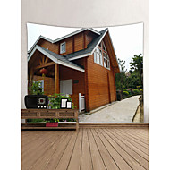 billige Veggdekor-Landskap / Arkitektur Veggdekor polyester Moderne Veggkunst, Veggtepper Dekorasjon