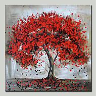 baratos -Pintura a Óleo Pintados à mão - Paisagem / Floral / Botânico Modern Tela de pintura