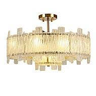 billige Taklamper-QIHengZhaoMing 10-Light Krystall Takplafond Omgivelseslys galvanisert Metall Glass 110-120V / 220-240V Pære ikke Inkludert