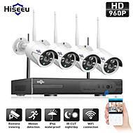 cheap Wireless CCTV System-Hiseeu® Wireless CCTV Camera System 960P 4ch 1.3MP IP Camera Waterproof P2P Home Security System Video Surveillance Kits