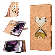 cheap -Case For Samsung Galaxy J7 (2017) / J5 (2017) Wallet / Card Holder / Flowing Liquid Full Body Cases Heart Hard PU Leather for J7 (2016) /