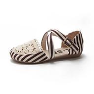 baratos Sapatos Femininos-Mulheres Sapatos Com Transparência Verão Conforto Rasos Sem Salto Ponta Redonda Rendado Preto / Vinho