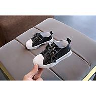 baratos Sapatos de Menino-Para Meninos Sapatos Microfibra Primavera & Outono Conforto Tênis Velcro para Bebê Branco / Preto