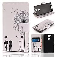 billiga Mobil cases & Skärmskydd-fodral Till Sony Xperia XA2 Plånbok / Korthållare / med stativ Fodral Maskros Hårt PU läder för Xperia XA2