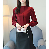 Dame - Ensfarvet Basale Bluse