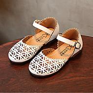 baratos Sapatos de Menina-Para Meninas Sapatos Couro Envernizado Primavera Verão Sapatos para Daminhas de Honra Sandálias Presilha para Infantil Branco / Rosa claro