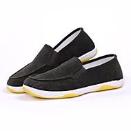 baratos Sapatos Masculinos-Homens Veludo Verão Conforto Mocassins e Slip-Ons Cinzento / Marron / Verde Escuro