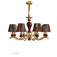billiga Belysning-QIHengZhaoMing 6-Light Ljuskronor Glödande - stearinljus stil, 110-120V / 220-240V, Varmt vit, Glödlampa inkluderad
