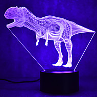 cheap Lamps-1set 3D Nightlight Change USB Touch Sensor / Color-Changing / with USB Port