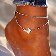 Per donna Multistrato braccialetto alla caviglia Delfino Donne Stile Boho Di tendenza Cavigliera Gioielli Argento Per Per eventi Bikini