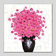 hesapli Natürmort Resimler-Hang-Boyalı Yağlıboya Resim El-Boyalı - Natürmort / Çiçek / Botanik Modern Tuval