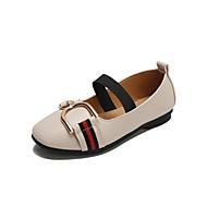 baratos Sapatos de Menina-Para Meninas Sapatos Couro Ecológico Primavera Verão Conforto / Sapatos para Daminhas de Honra Rasos Caminhada para Adolescente Preto / Bege / Rosa claro