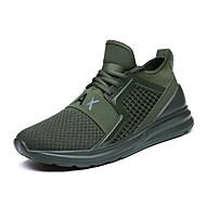 baratos Sapatos Masculinos-Homens Lona / Com Transparência Verão Conforto Tênis Preto / Vermelho / Verde Escuro