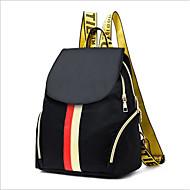 cheap School Bags-Women's Bags Polyester Backpack Zipper Black