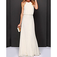 Women's Chiffon Dress Maxi Halter Neck