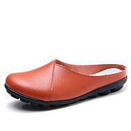 Női Cipő Bőr Nyár Kényelmes Klumpák és papucsok Lapos Kávé   Piros    Világoskék 94af88d223