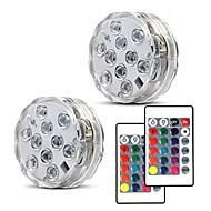 billiga Belysning-2pcs 5 W Undervattensglödlampa Ny Design / Fjärrstyrd / Bimbar RGB 4.5 V Lämplig för vaser och akvarier