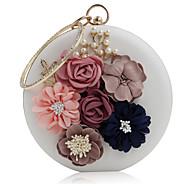 baratos Clutches & Bolsas de Noite-Mulheres Bolsas PU Bolsa de Festa Flor Branco / Preto / Rosa