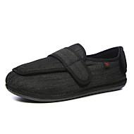 baratos Sapatos Masculinos-Homens Linho / Microfibra Outono / Inverno Conforto Tênis Preto / Cinzento Escuro