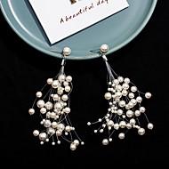 Damen Tropfen-Ohrringe Künstliche Perle Ohrringe Einfach Koreanisch Modisch Schmuck Weiß Für Party Alltag 1 Paar