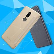 billiga Mobil cases & Skärmskydd-fodral Till OnePlus OnePlus 6 / OnePlus 5T Lucka / Frostat Fodral Enfärgad Hårt PU läder för OnePlus 6 / One Plus 5 / OnePlus 5T