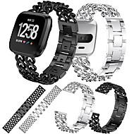 Bracelet de Montre  pour Fitbit Versa / Fitbit Versa Lite Fitbit Boucle Moderne Métallique / Acier Inoxydable Sangle de Poignet
