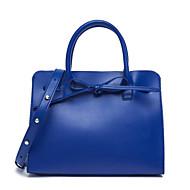 baratos Bolsas Tote-Mulheres Bolsas PU Tote Ziper Azul Escuro / Amêndoa / Marron