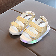tanie Obuwie dziewczęce-Dla chłopców / Dla dziewczynek Obuwie PU Wiosna & jesień Świecące buty Sandały Tasiemka / LED na Black / Yellow / Różowy