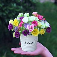 billige Kunstig Blomst-Kunstige blomster 1 Afdeling Klassisk Rustikt Roser Bordblomst