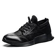 tanie Obuwie męskie-Męskie Nappa Leather Wiosna lato Comfort Buty do lekkiej atletyki Bieganie White / Black / Black / White