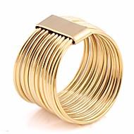 לזוג שכבות מרובות טבעת רבת אצבעות פלדת טיטניום יצירתי הצהרה נשים ארופאי טרנדי אפריקני Fashion Ring תכשיטים זהב עבור חגים ליציאה 6 / 7 / 8 / 9