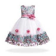 Χαμηλού Κόστους -Παιδιά Κοριτσίστικα Βασικό / Γλυκός Πάρτι / Αργίες Φλοράλ / Patchwork Patchwork Αμάνικο Ως το Γόνατο Φόρεμα / Βαμβάκι