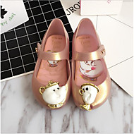baratos Sapatos de Menina-Para Meninas Sapatos PVC Primavera & Outono Plástico Rasos Miçangas para Bébé Branco / Rosa claro