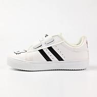 baratos Sapatos de Menino-Para Meninos / Para Meninas Sapatos Microfibra Primavera & Outono Conforto Tênis Velcro para Infantil Branco / Preto / Rosa claro