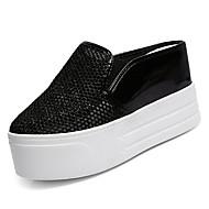 preiswerte -Damen Schuhe Gitter Sommer Komfort Cloggs & Pantoletten Plattform Runde Zehe Weiß / Schwarz