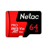 baratos Cartões de Memória-Netac 64GB TF cartão Micro SD cartão de memória UHS-I U3 / V30 64