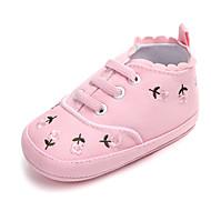 tanie Obuwie dziewczęce-Dla dziewczynek Obuwie Jeans Wiosna & jesień Buty do nauki chodzenia Tenisówki na Dziecięce Biały / Niebieski / Różowy