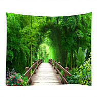 cheap Wall Art-Landscape / Bamboo Wall Decor 100% Polyester Classic Wall Art, Wall Tapestries Decoration