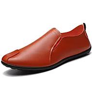 baratos Sapatos Masculinos-Homens Mocassim Pele Napa Outono Mocassins e Slip-Ons Branco / Preto / Laranja