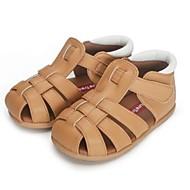 baratos Sapatos de Menina-Para Meninos / Para Meninas Sapatos Couro Sintético Primavera Verão Primeiros Passos Sandálias Vazados para Bébé Branco / Marron