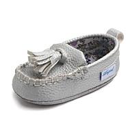 baratos Sapatos de Menino-Para Meninos / Para Meninas Sapatos Couro Ecológico Primavera & Outono Primeiros Passos Mocassins e Slip-Ons Mocassim para Bebê Prateado / Azul / Rosa claro