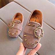 お買い得  フラワーガールシューズ-女の子 靴 スエード / PUレザー 春夏 コンフォートシューズ / フラワーガールシューズ フラット ウォーキング ベックル のために 子供 ブラック / グレー / Brown