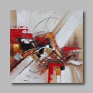 abordables Décoration Murale-Peinture à l'huile Hang-peint Peint à la main - Abstrait Contemporain / Moderne Toile