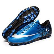 baratos Sapatos Masculinos-Homens Solas Claras Couro Ecológico Verão Tênis Futebol Azul
