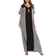 Dame I-byen-tøj Swing Kjole Maxi V-hals