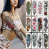 billiga Temporära tatueringar-2 pcs tillfälliga tatueringar Blomserier / Romantisk serie Lena klistermärken / Säkerhet Body art arm / Dekalstil tillfälliga tatueringar