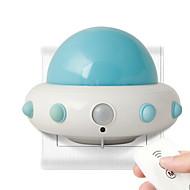 billige Skrivebordslamper-1pc Wall Plug Nightlight Hvit Analog strømforsyning Smart / Tegneserie / Kreativ 220-240 V