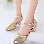 abordables Chaussures pour Fille-Fille Chaussures Faux Cuir Printemps & Automne Chaussures de Demoiselle d'Honneur Fille / De minuscules talons pour les ados Chaussures à Talons pour Or / Argent / Rose