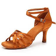 cheap Dance Shoes-Women  039 s Latin Shoes Satin Sandal   Heel Buckle a761ce00484b