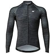 Χαμηλού Κόστους Autum-Winter Collection-Mysenlan Ανδρικά Μακρυμάνικο Φανέλα ποδηλασίας - Σκούρο γκρι Μοντέρνα Ποδήλατο Αθλητική μπλούζα Πολυεστέρας Ταφτάς / Μικροελαστικό / Εμπειρογνώμονας / Αναπνεύσιμες μασχάλες